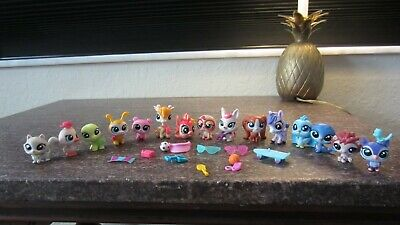 Littlest Pet Shop Set Lot of 15 Giraffe Authentic Surprise Pets turtle kitten