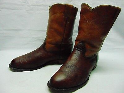 45eb952a341ea Larry Mahan Mens 9.5 XE Copper Smooth Ostrich Leather ROPERS Cowboy Western  Boot