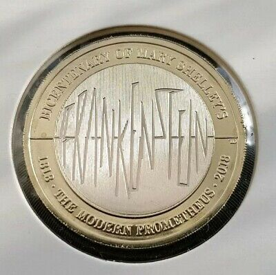 MARY SHELLEY'S FRANKENSTEIN 2 Pound coin UNCIRCULATED FREE COIN CAPSULE
