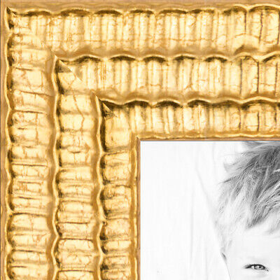 "ArtToFrames Custom Picture Poster Frame  Bright Gold  .75"" Wide Wood"