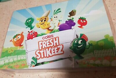 Coles Little Shop Mini Collectibles stikeez Limited edition folder brand new