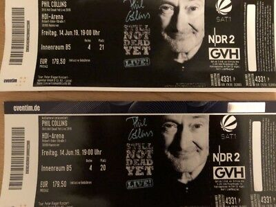 2 TOP Tickets Phil Collins Hannover 14.06.19 Block B5