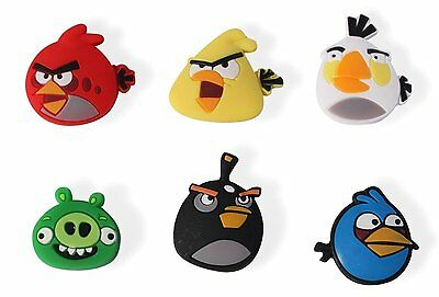 6 Angry Birds Tennis Vibration Shock Absorber Dampeners