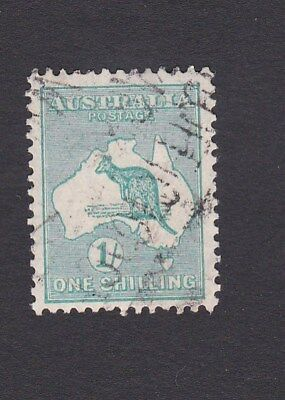 Australia 1929 1/- GREEN Kangaroo & Map SMALL MULTI sm watermark GOOD USED