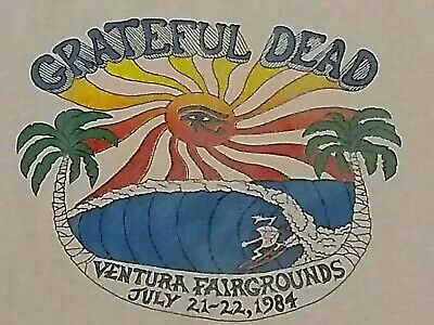 Vintage grateful dead concert Ventura California tour shirt Egypt 1984 large 80s