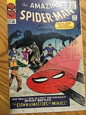 the amazing Spiderman #22 03/65 super nice g+/vg Ringmaster appearance