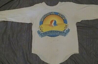 Vintage grateful dead concert shirt 1983 San Francisco tour raglan jersey small