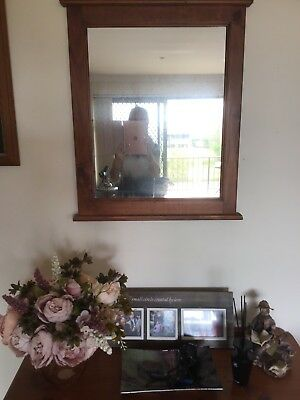 Decorative Hall Stand with Mirror and Storage Drawer
