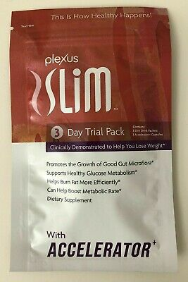 Plexus Slim & Accelerator 3 Day Trial Pack Natural Weight Loss Supplement Sealed