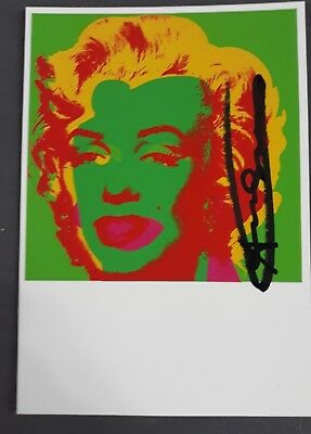 Andy Warhol Signed Marilyn Monroe