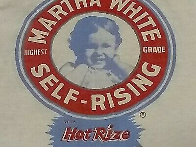 vintage rare 1960s Martha White promo shirt large soft thin not concert or tour