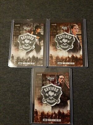 2018 Topps Walking Dead Season 8 3 Different Saviors Patch Relics Negan