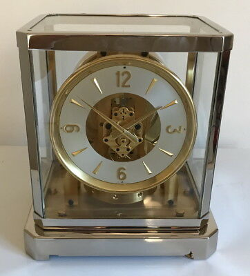 Restored & Serviced! Serviced 1950's Jaeger LeCoultre Atmos 519 Clock- Working!