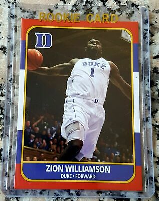 Zion Williamson Duke Retro Throwback Novelty Aceo Rc Card Lot Of 5