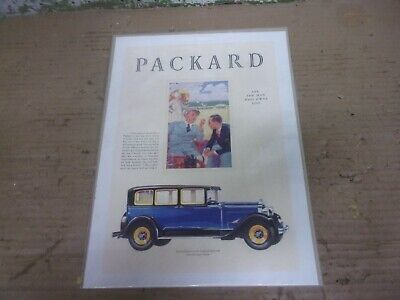 1929 Packard Eight 626 5 Passenger Sedan Magazine Ad