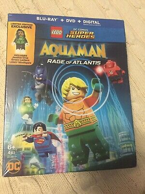 LEGO DC Super Heroes: Aquaman - Rage of Atlantis (Blu-ray/DVD, NEW, 2018)
