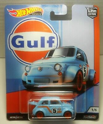 HOT WHEELS CAR CULTURE GULF RACING '60s FIAT 500D MODIFICADO MINT ON CARD