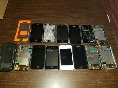 Lot of 11 iPhones & Ipods for Parts - iCloud & Carrier Unknown - iPhone 4 3G 3GS