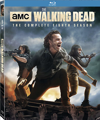 The Walking Dead: The Complete Eighth Season (Blu-Ray, 5-Disc Set w Slipcover)