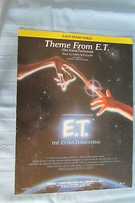 VINTAGE SHEET MUSIC THEME FROM E T  Easy piano solo  1982 John Williams