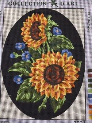 Tapestry - Printed Canvas - Sunflowers - Made in E.U for Collection D'Art