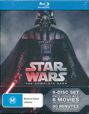 Star Wars The Complete Saga Blu-ray NEW 9-disc