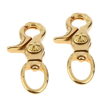 2x Brass Lobster Clasps Bag Clips Trigger Swivel Hooks Jewelry Findings 12mm