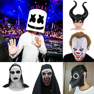 Pennywise/ MarshMello DJ Mask Full Head Helmet Cosplay Mask Music Prop Masque
