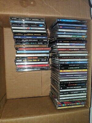 Lot of 54 Various Used CDs in Jewel Cases with Artwork - Good to Mint Condition