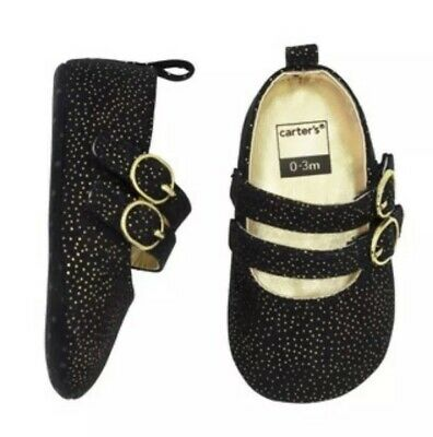 c00d7954c67b CARTER'S GOLD GLITTER Kitty Carter's Mary Jane Crib Shoes 3-6 months ...