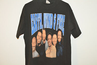 Earth, Wind & Fire/WAR Vintage T-Shirt L Large 1990s 90s Band Rap