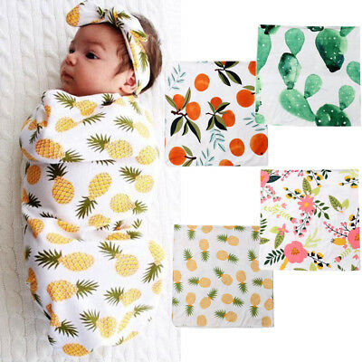 Organic Cotton Swaddle Muslin Blanket Newborn Baby Wrap Swaddling Blanket 0-3M