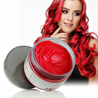 Unisex DIY Hair Color Wax Mud Dye Cream Temporary Modeling Red mofajang