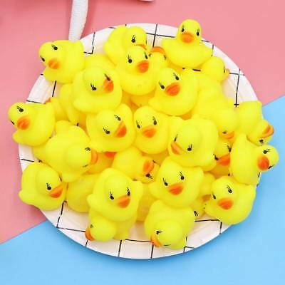 20/40/60pcs Baby Kids Children Bath Toy Rubber Squeaky Duck Ducky Yellow Toys