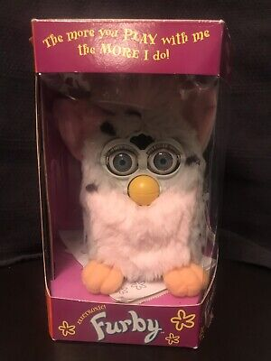 1998 Furby Pink and Gray with Black Spots 70-800 Tiger Electronics NIB Vintage
