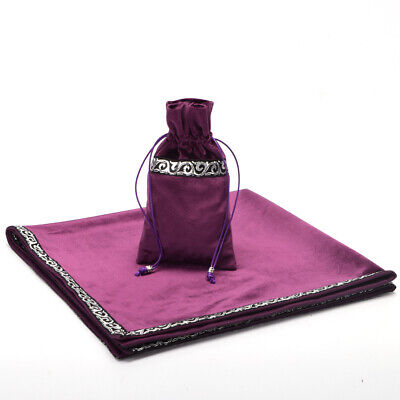 """Tablecloth Altar Tarot Table Decor Divination Cards Square Wicca Cloth 25.5"""""""