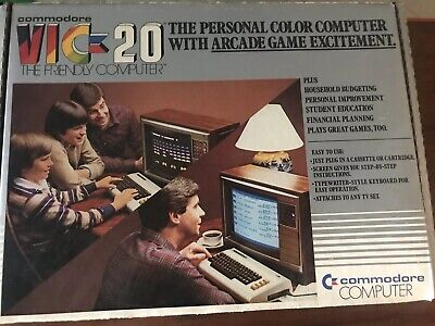 Commodore Vic-20 Vintage The Personal Color Computer With Original Box