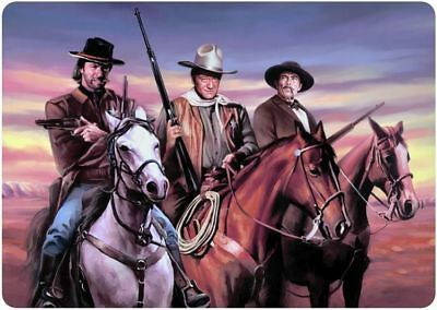 Cowboys Clint Eastood / John Wayne  / Lee Van Cleef /  8x12 metal sign