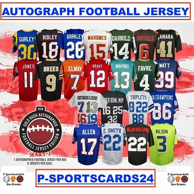 2018 Gold Rush Autograph Football Jersey Box Live Break - 1 Random Team #1758