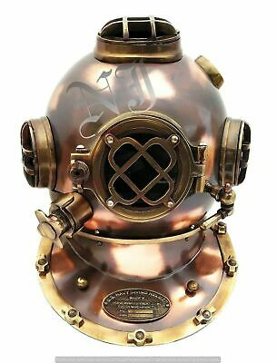 """Antique Finish Scuba Diving Helmet 18"""" Full Size Divers Marine Collectible Gift"""