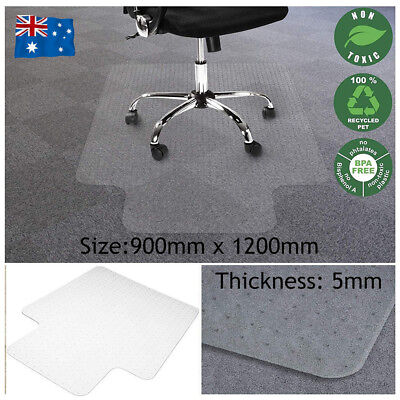 1200x900mm Office Mat Computer Work Chair Carpet Floor Vinyl PVC Protector Mat