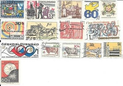 16 Stamps of Czechoslovakia - no duplicates, lot 1