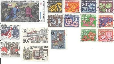 16 Stamps of Czechoslovakia - no duplicates, lot 12