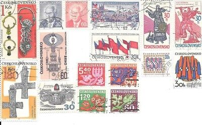 16 Stamps of Czechoslovakia - no duplicates, lot 4
