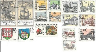 16 Stamps of Czechoslovakia - no duplicates, lot 7