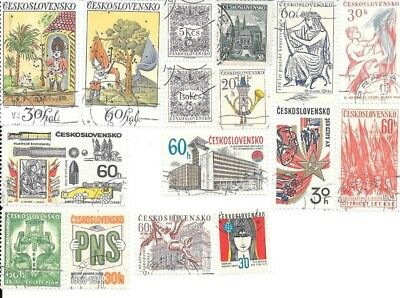 16 Stamps of Czechoslovakia - no duplicates, lot 2