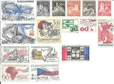 16 Stamps of Czechoslovakia - no duplicates, lot 6