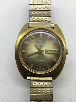 Vintage Zodiac SST 36000 Automatic Swiss Made Men's Watch Working