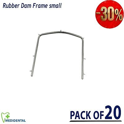 Rubber Dam Frames Small size Orthodontics Ortho Dental Lab Instrument pack of 20