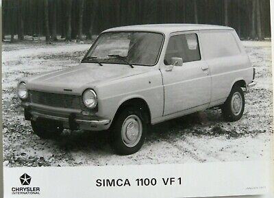 1 photo presse CHRYSLER SIMCA 1100 VF1 de 01 / 1977